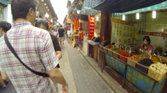 Glidecam Qibao Market Day front view 6 24 fps - stock footage