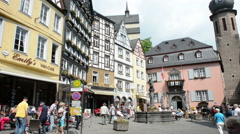 Market place in Cochem (Rhineland Palatinate, Germany) Stock Footage