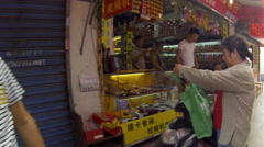 Glidecam Qibao Mkt Day rear view v1 24p Stock Footage