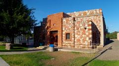 Historic Civic Center- Cottonwood Arizona Downtown Historic District Stock Footage