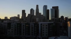Los Angeles Skyline L.A. Skyline Stock Footage