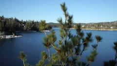 Lake Arrowhead Aerial Stock Footage