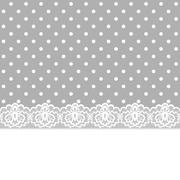 card with lace border - stock illustration