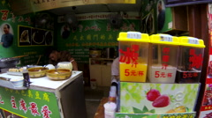 Glidecam Qibao Market Day side view 2 24 fps - stock footage