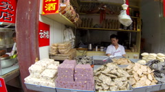 Glidecam Qibao Market Day side view 3 24 fps - stock footage