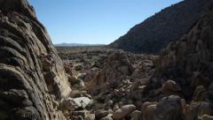 Desert rocks flyover aerial Stock Footage