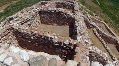 Inside Native American Dwelling Ruins- Tuzigoot National Monument - stock footage