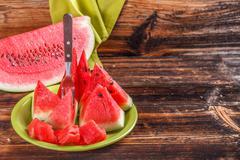 Stock Photo of watermelon triangle