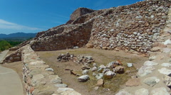 Low Angle Interior View Dwelling- Tuzigoot National Monument Stock Footage