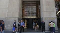 NYC B Roll - Rockefeller Center Entrance 1 Stock Footage