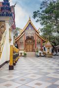 Buddhist temple of wat phrathat doi suthep in chiang mai, thaila Stock Photos
