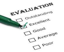 evaluation sheet - stock photo
