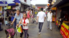 Glidecam Qibao Market Day front view 5 24 fps - stock footage