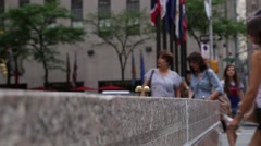 NYC B Roll - Rockefeller Plaza Close up Stock Footage