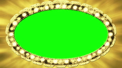 Casino lights golden billboard frame - 1080p - stock footage