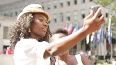NYC B Roll - Rockefeller Plaza Tourists Selfie Stock Footage