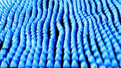 Pyramid ocean grid flow pattern abstract background blue Stock Footage
