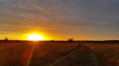 Stock Video Footage of Australian Landscape Dirt Road Sunset / Sunrise