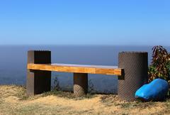 hilltop empty seat - stock photo