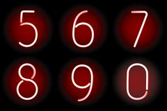 Neon numbers. Vector. Stock Illustration
