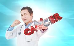 Stock Illustration of Fighting Cancer