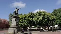 Plaza Square Santo Domingo Stock Footage