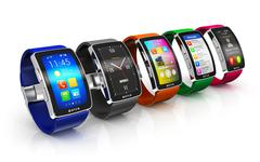 Collection of smart watches Piirros