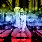 Dancer On The Dance Floor Stock Illustration