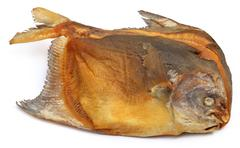 dried pomfret fish rup chada - stock photo