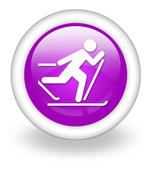 icon, button, pictogram cross-country skiing - stock illustration