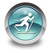 Icon, button, pictogram cross-country skiing Stock Illustration