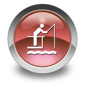 Icon, button, pictogram fishing pier Stock Illustration