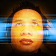 Man Listening To Music - stock illustration