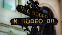 Rodeo Drive, Beverly Hills - California , USA Stock Footage