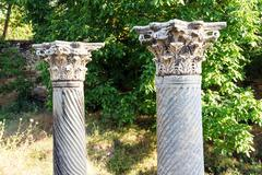 Corinthian capitals Stock Photos
