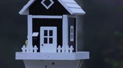 Birdfeeder that Resembles House - close Shot Stock Footage