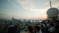 Observation Deck Manhattan View Empire State Building New York City NYC USA - stock footage