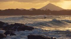 Noosa beach sunset Stock Footage