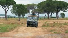 Armored vehicle, training, Grosseto, Italy Stock Footage