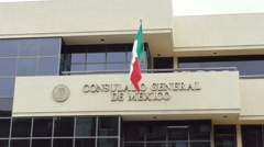 Mexico Consulate San Diego Editorial Stock Footage