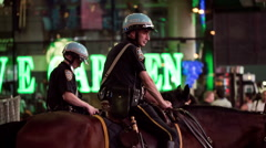 Police Officers on Horses in Times Square, Manhattan, New York City, NYC, USA - stock footage