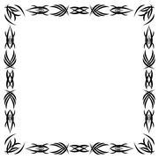 gothic pattern - stock illustration