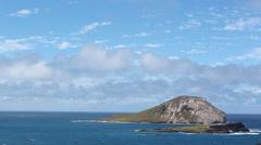 Oahu Hawaii Coast Island Rabbit Island Close Up Stock Footage