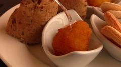 Italians appetizer - starters Stock Footage