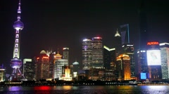 Shanghai Skyline in Pudong District, China - stock footage