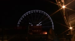 The big Ferris Wheel at Asiatique The Riverfront in Bangkok Stock Footage