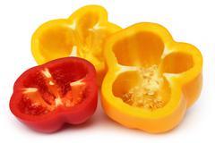 Sliced capsicum Stock Photos