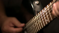Guitar Strum in Super Slow Motion Stock Footage