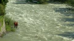 Wildwater canoeing man 01 Stock Footage