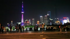 Shanghai Skyline in Pudong District, China Stock Footage